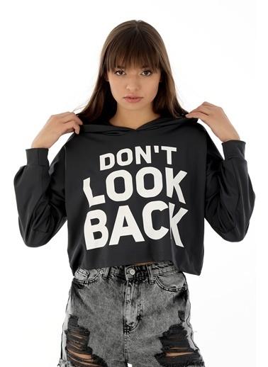 Emjey Don'T Look Back Baskılı Sweat Antrasit